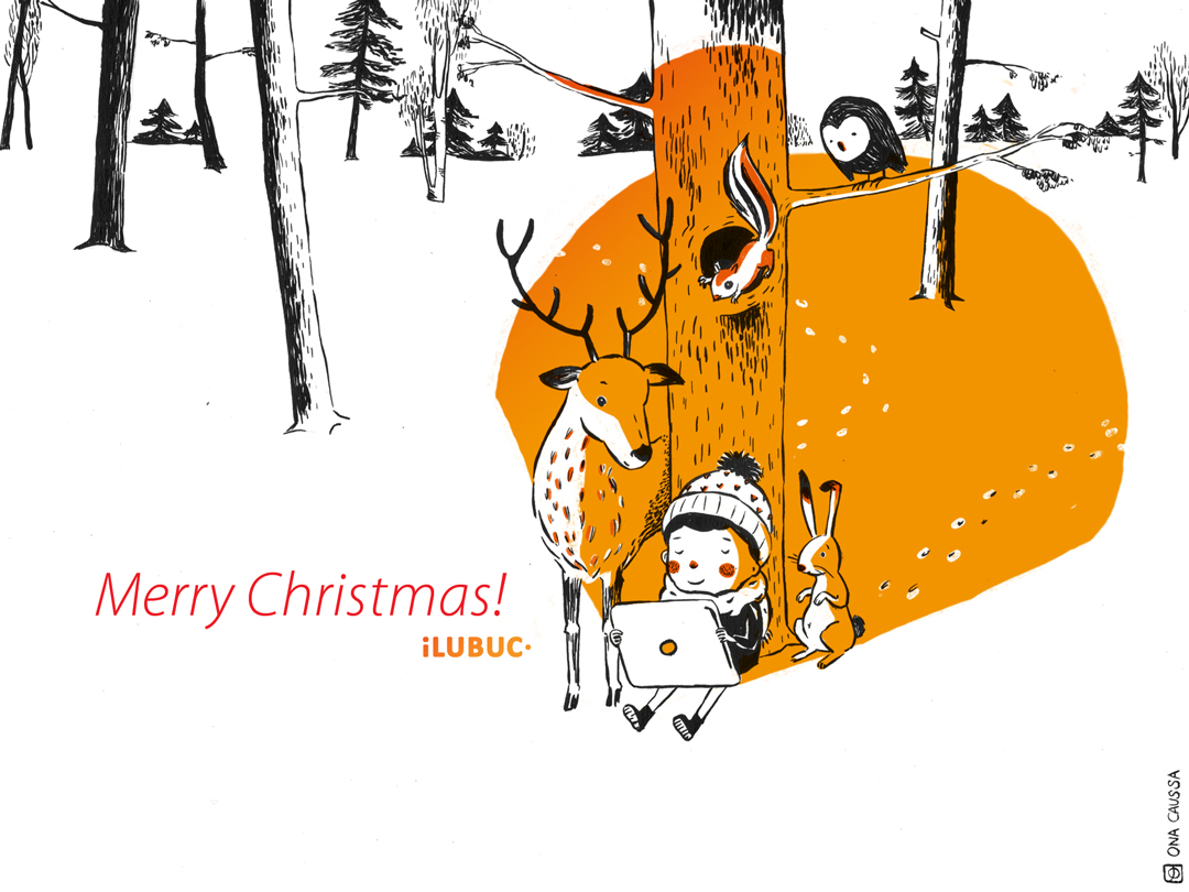 iLUBUC greeting card Merry Christmas © 2012 iLUBUC - Ona Caussa